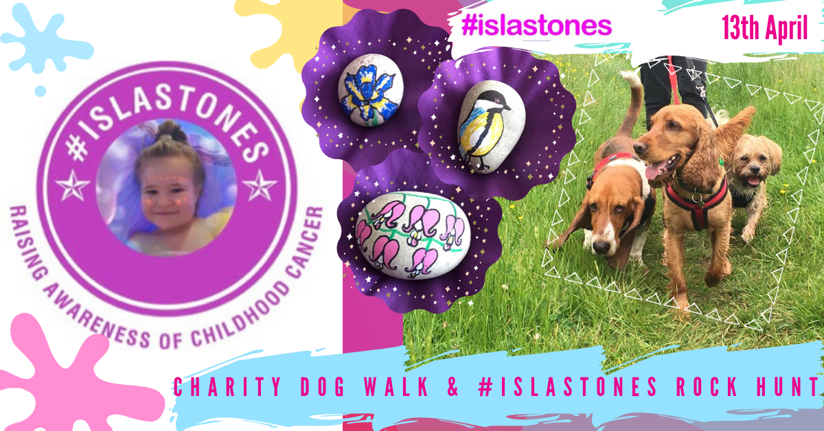 Charity Dog Walk & #Islastones Rock Hunt