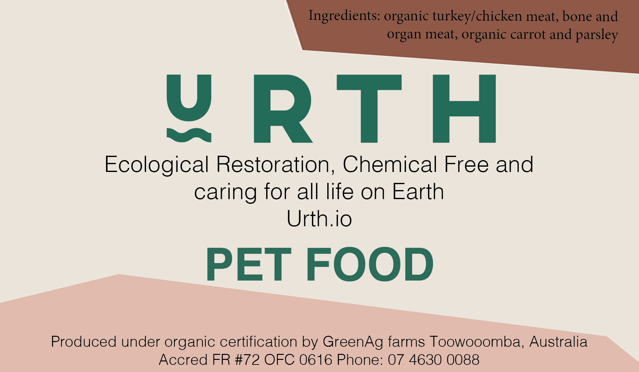 Urth love for your pet and the earth