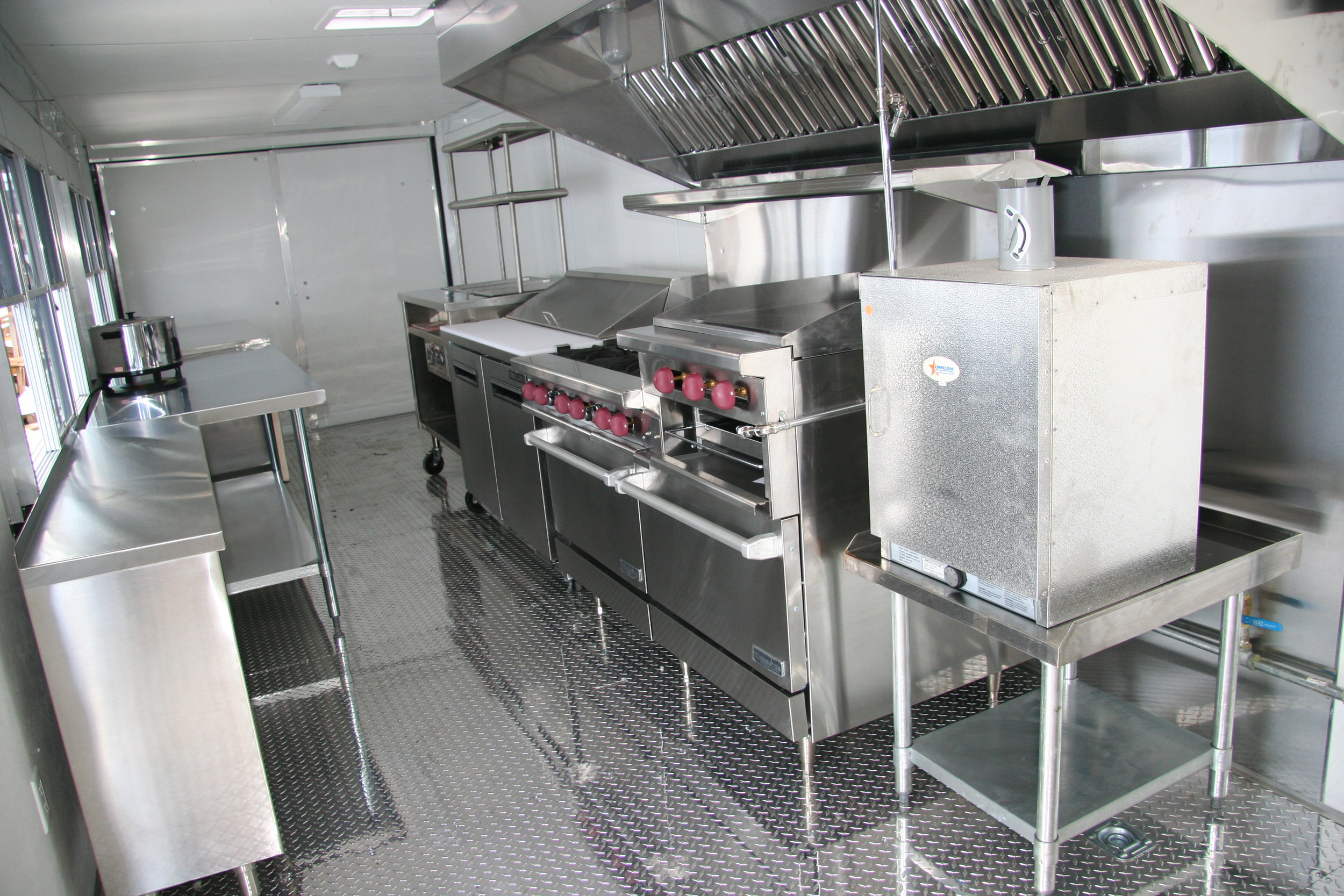 custom stainless steel fabrication food truck