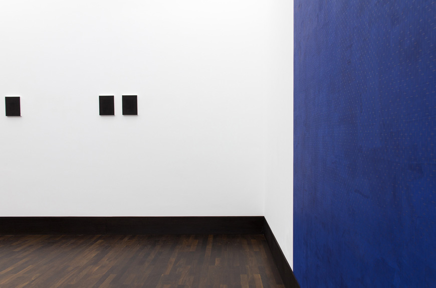 Installation View:  The Black Pages X,II, IX, The Poet's Page  (left) and  The Imperishable Ones  (right)