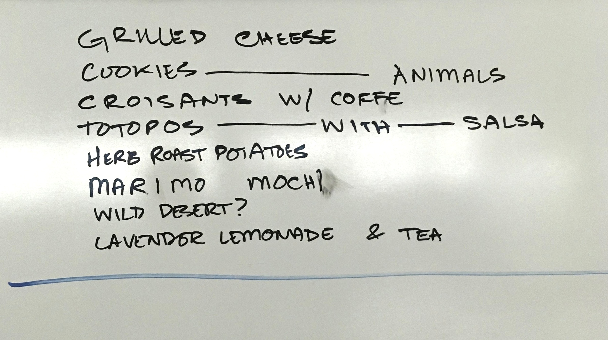 The treats list is shaping up.
