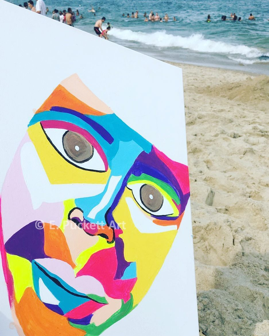 Untitled (mask on the beach)