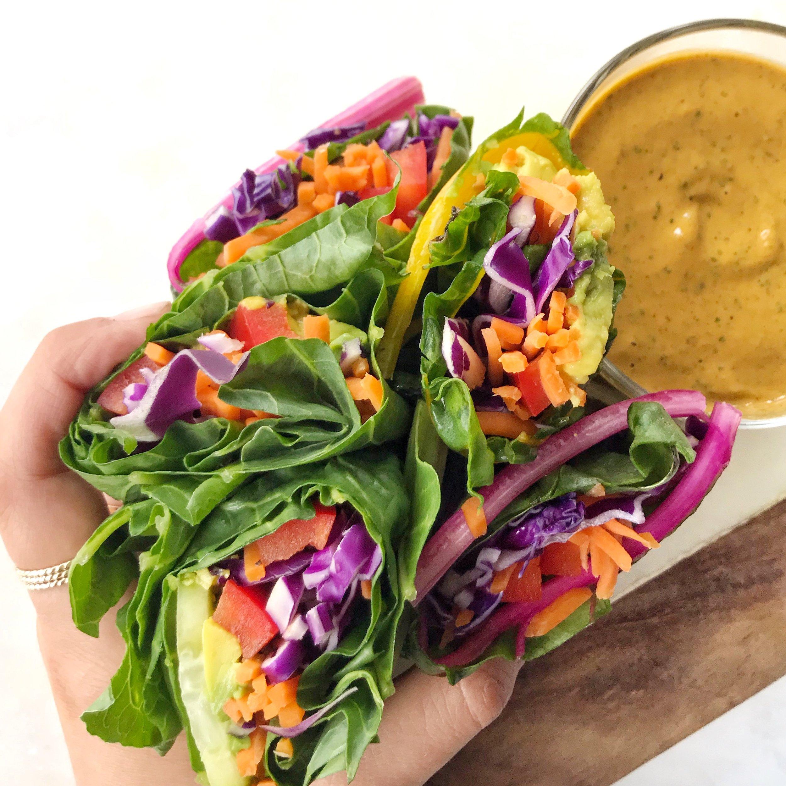 Rainbow Chard Wraps w: Peanut Sauce.jpeg