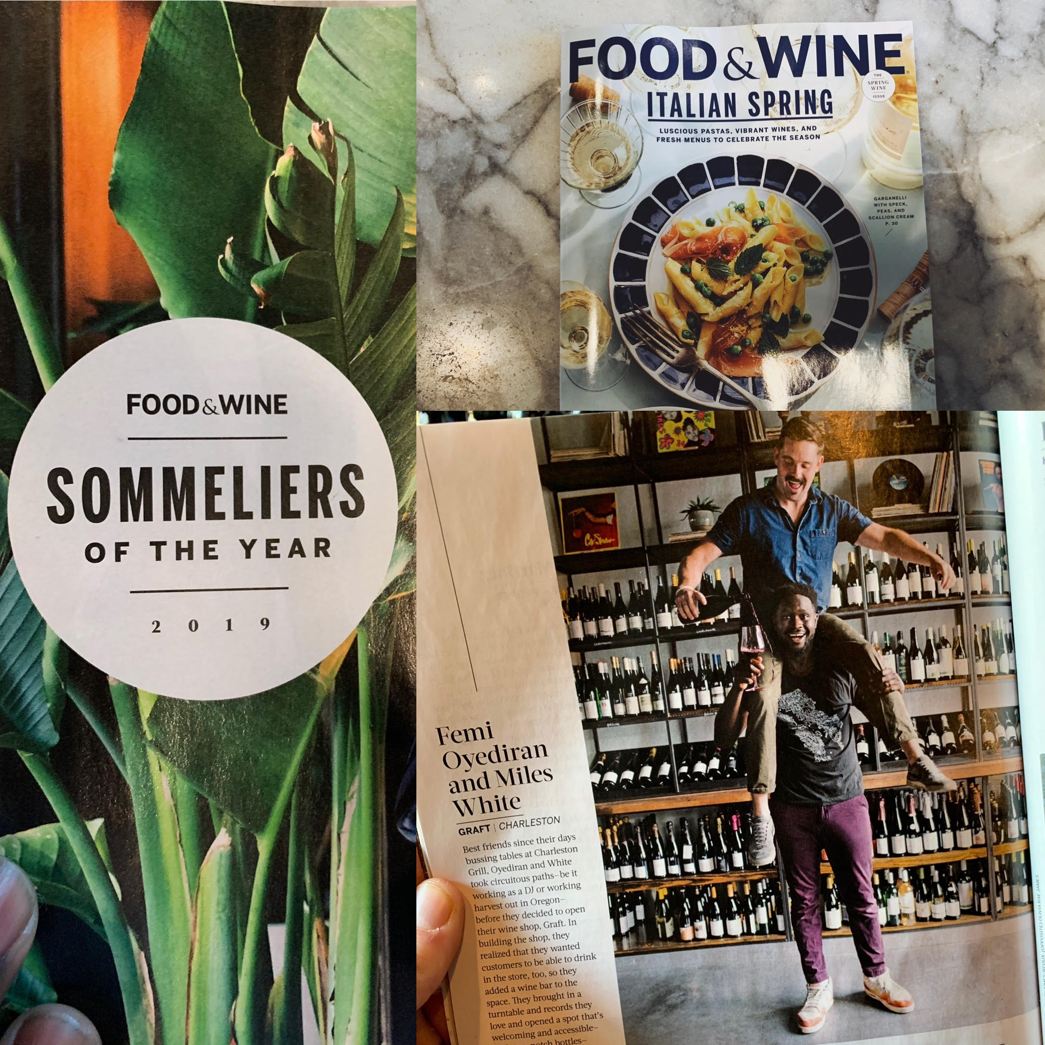 Food and Wine Magazine - 2019 Sommeliers of the Year