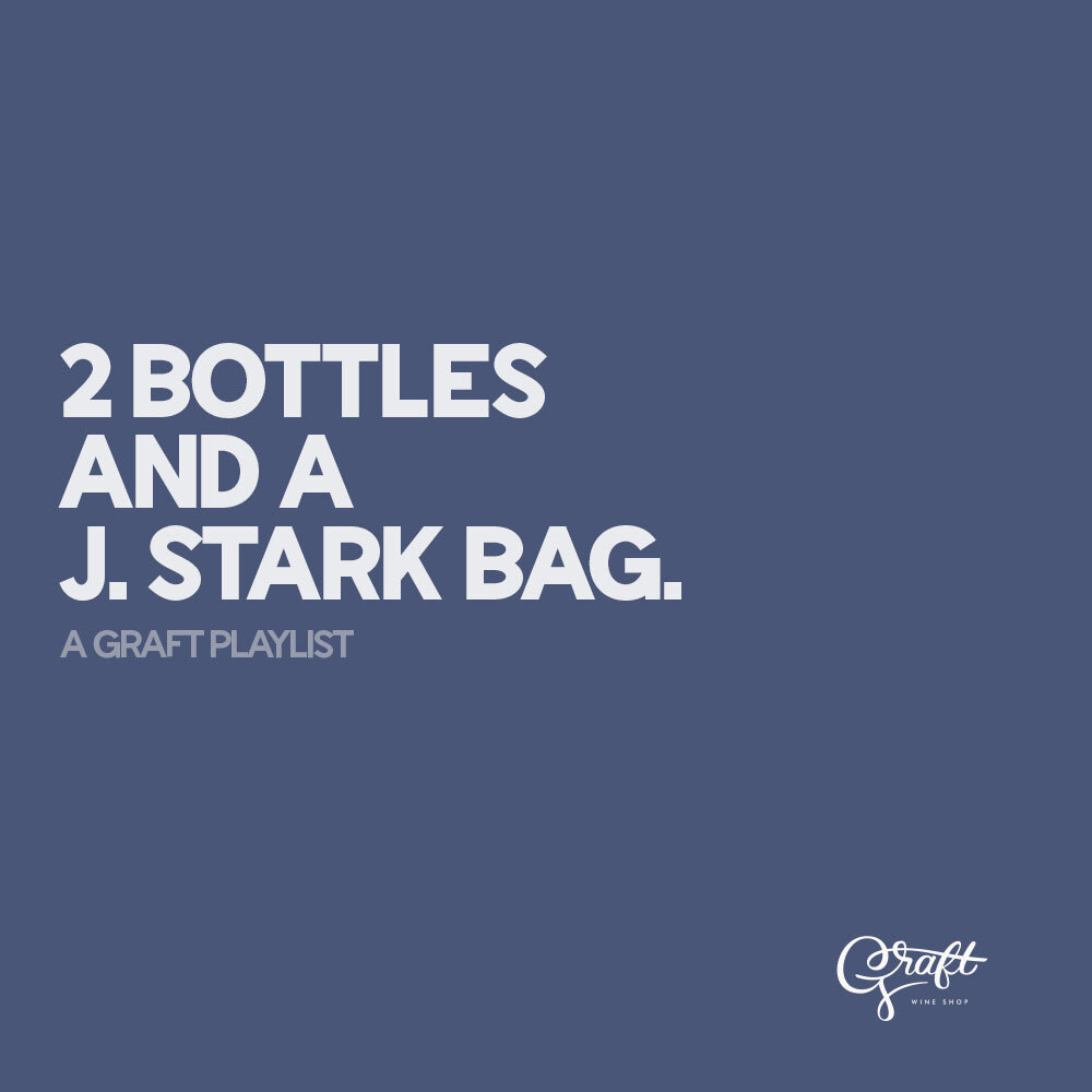NEW PLAYLIST: 2 BOTTLES AND A J. STARK BAG - Check out our latest playlist here. Sign up for our newsletter for a chance to win 2 bottles and a J. Stark bag at the end of September!