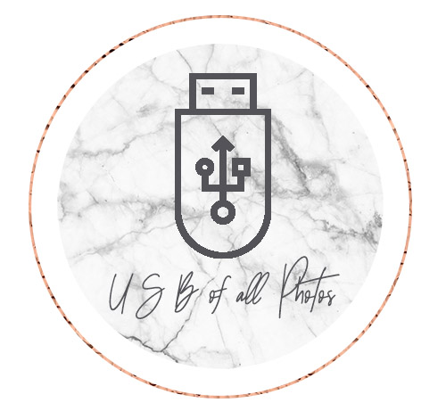 IF YOU'RE WORRIED YOUR PHOTOS AND VIDOES MAY GET LOST ONLINE NEVER TO BE SEEN AGAIN, ADD ON A USB DRIVE TO EASILY SHARE ROUND THE OFFICE!