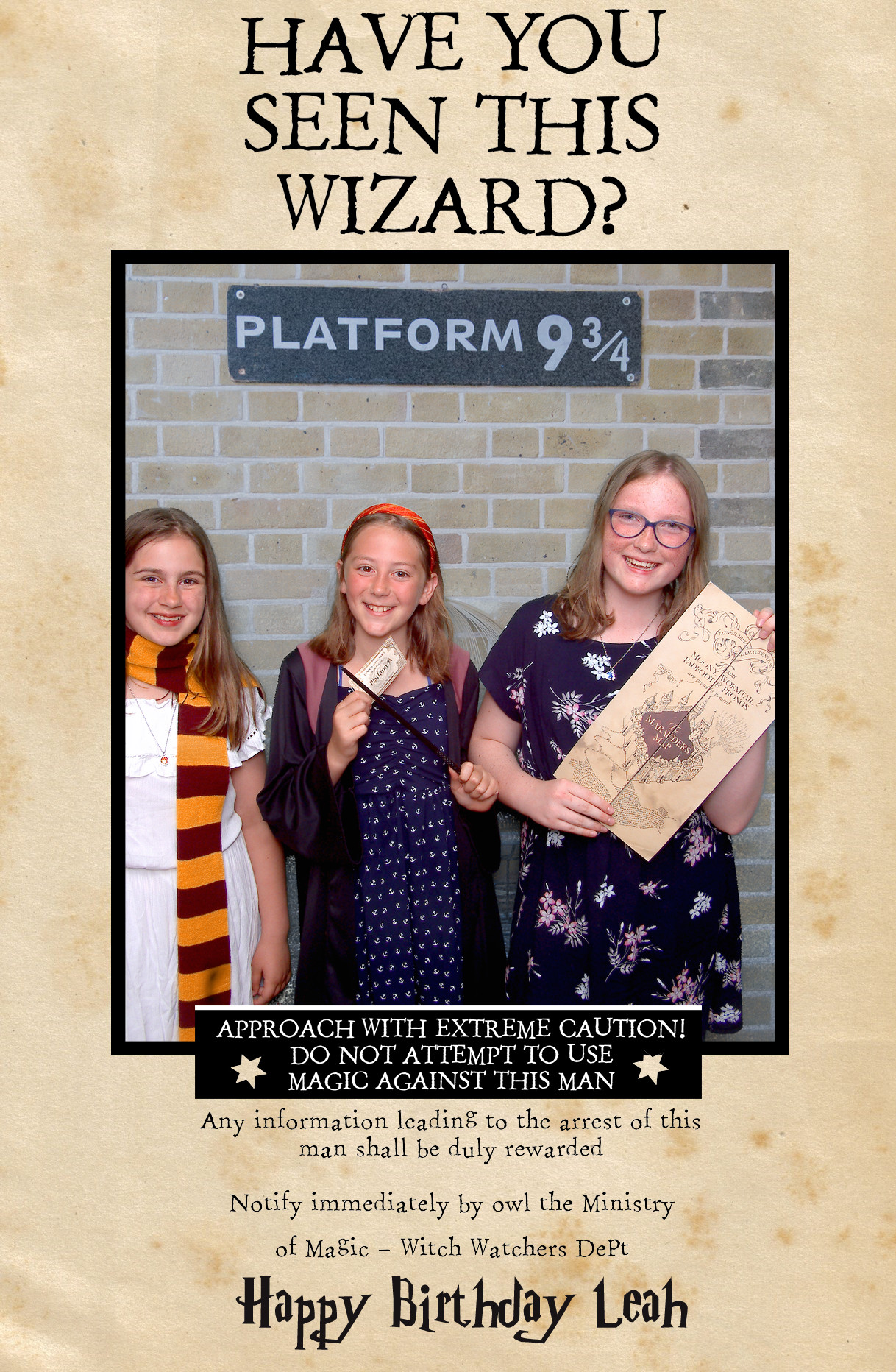 Harry Potter photobooth The Proper Booth
