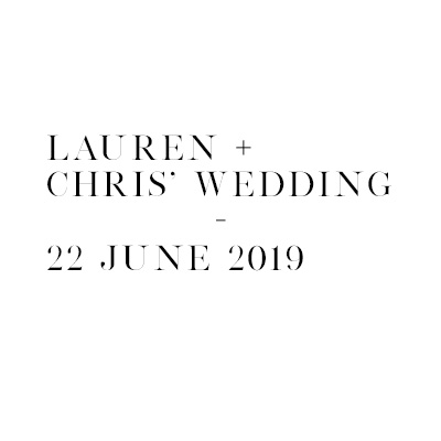 Lauren & Chris' Wedding