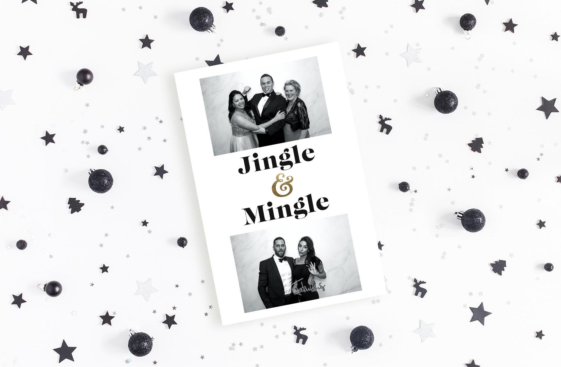 Black and White Christmas Photobooth