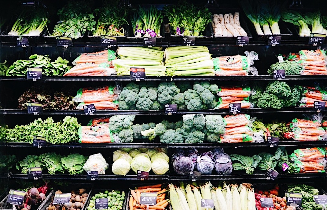 Organic vegetables at the whole foods market.