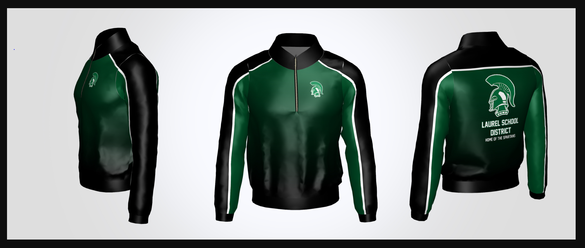 Laurel School District 1/4 Zip Jacket