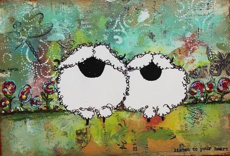 Listen to your Heart Sheep 5 x 7 $60 Mixed Media a.jpg
