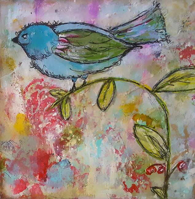 Blue Bird 6 x 6 $60 Mixed Media a.jpg
