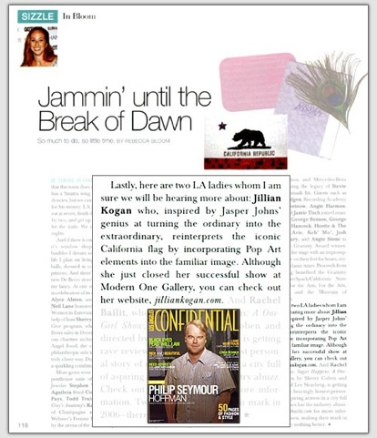 "Jammin' Until The Break of Dawn,  ""Sizzle""  Section by Rebecca Bloom, LA Confidential  March/April 2006"