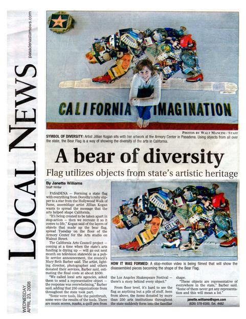 A Bear of Diversity   By Janette Williams,    Pasadena Star Press  April 23, 2008