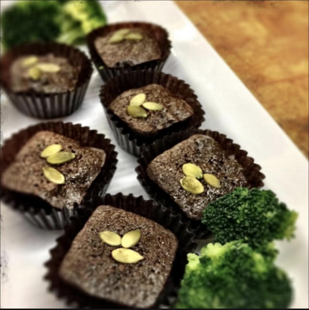 Dark Chocolate Broccoli Brownie