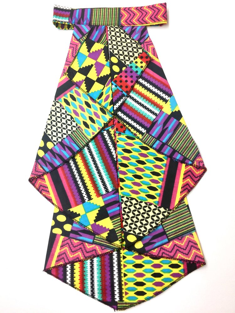MULTI-COLOR PATCHWORK ASCOT