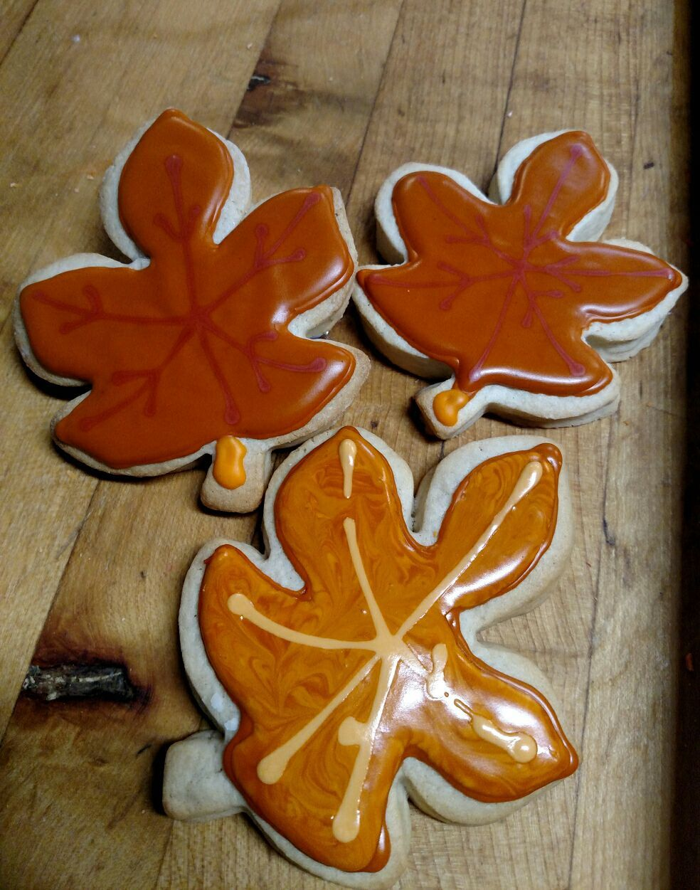 Fall Is In The Air Shortbread Cookies