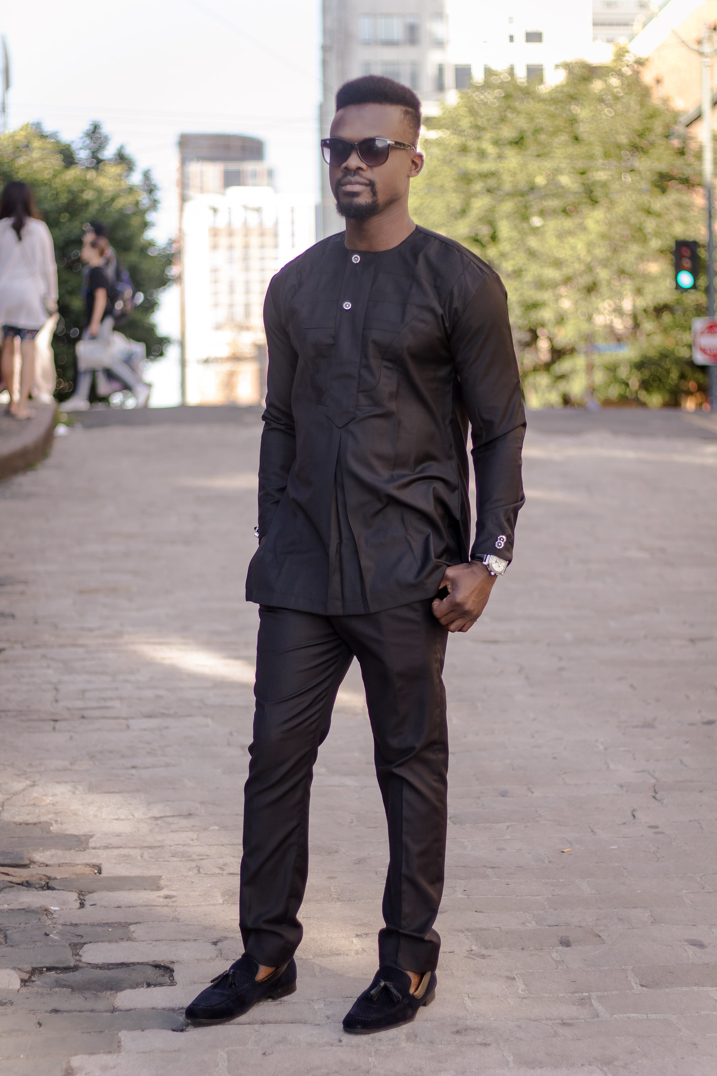Adeshie Black Senator Suit