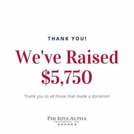 We did it!  Thank you for your generous donations. You helped us reach, and surpass our fundraising goal of $5,000!  With your support, we are able to invest in a high achieving Latino scholars wanting to become community leaders through our partnership with the National Hispanic Institute.  #WeDidIt #OurLegacy #OurImpact #OurCommitment #SomosFiotas #SomosNHI #LatinoLeaders