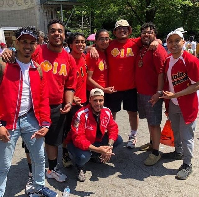 Phi Iota Alpha repping at the 2019 NYC Aids Walk in NYC! #Phiotas #aidswalknyc #SPSJ