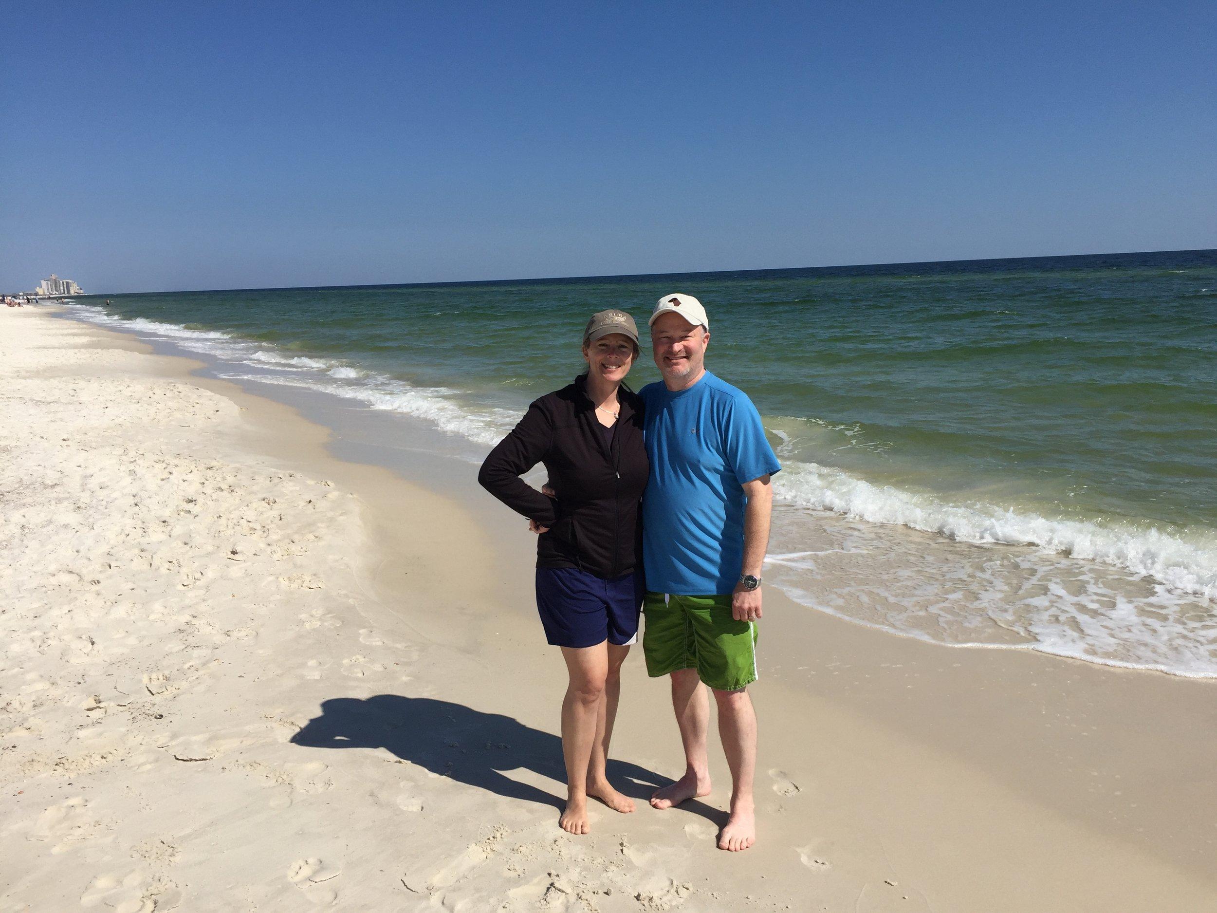 Kellie and Pat on the beach.JPG