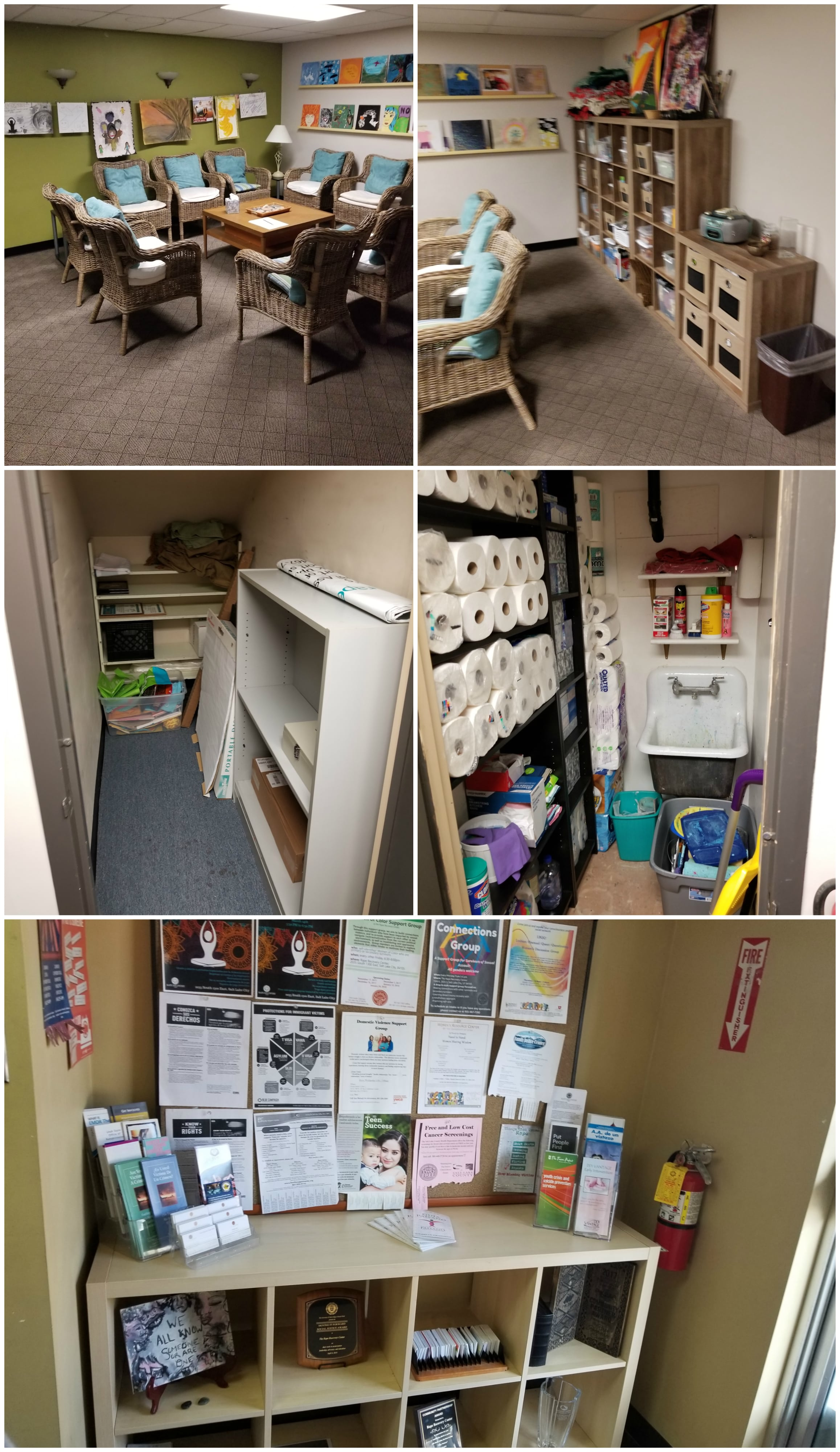 A few of the beautiful reorganized and redesigned spaces.