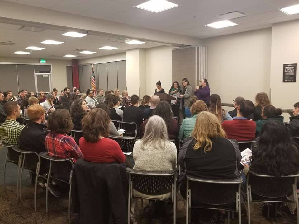 Nearly 100 community members gather at Glendale Library for #MeToo Town Hall