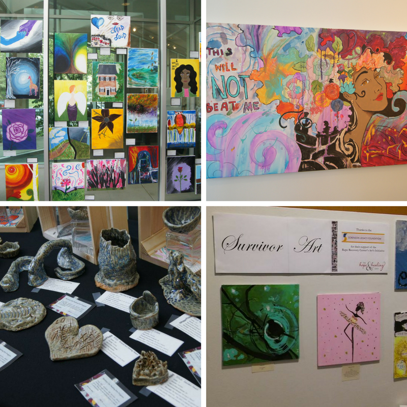Survivor art exhibits from the Hope & Healing Gala (2013-2017)