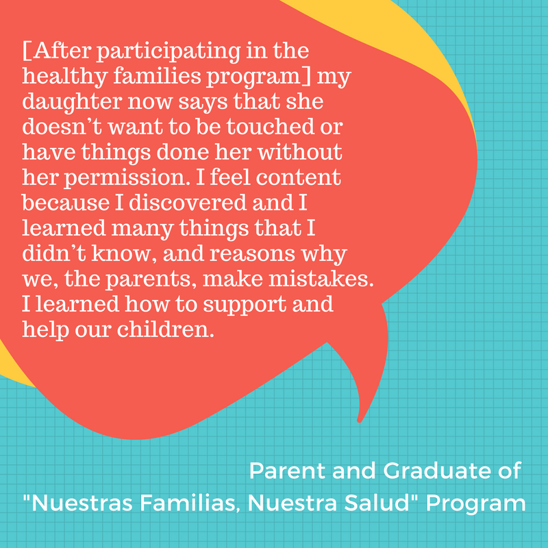 [Because of the Healthy Families program], my daughter now says that she doesn't want to be touched or have things done her without her permission.I feel content because I discovered and I learned many things th.png
