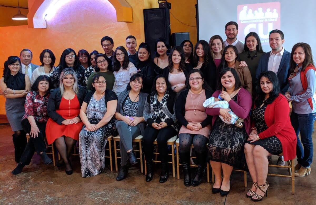 Comunidades Unidas staff, Promotoras, and volunteers in 2017