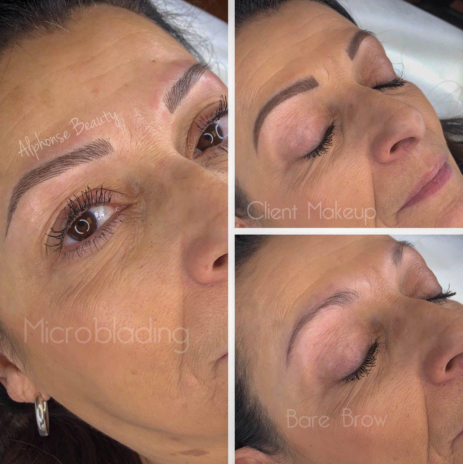 Eyebrows are more natural than makeup using Microblading