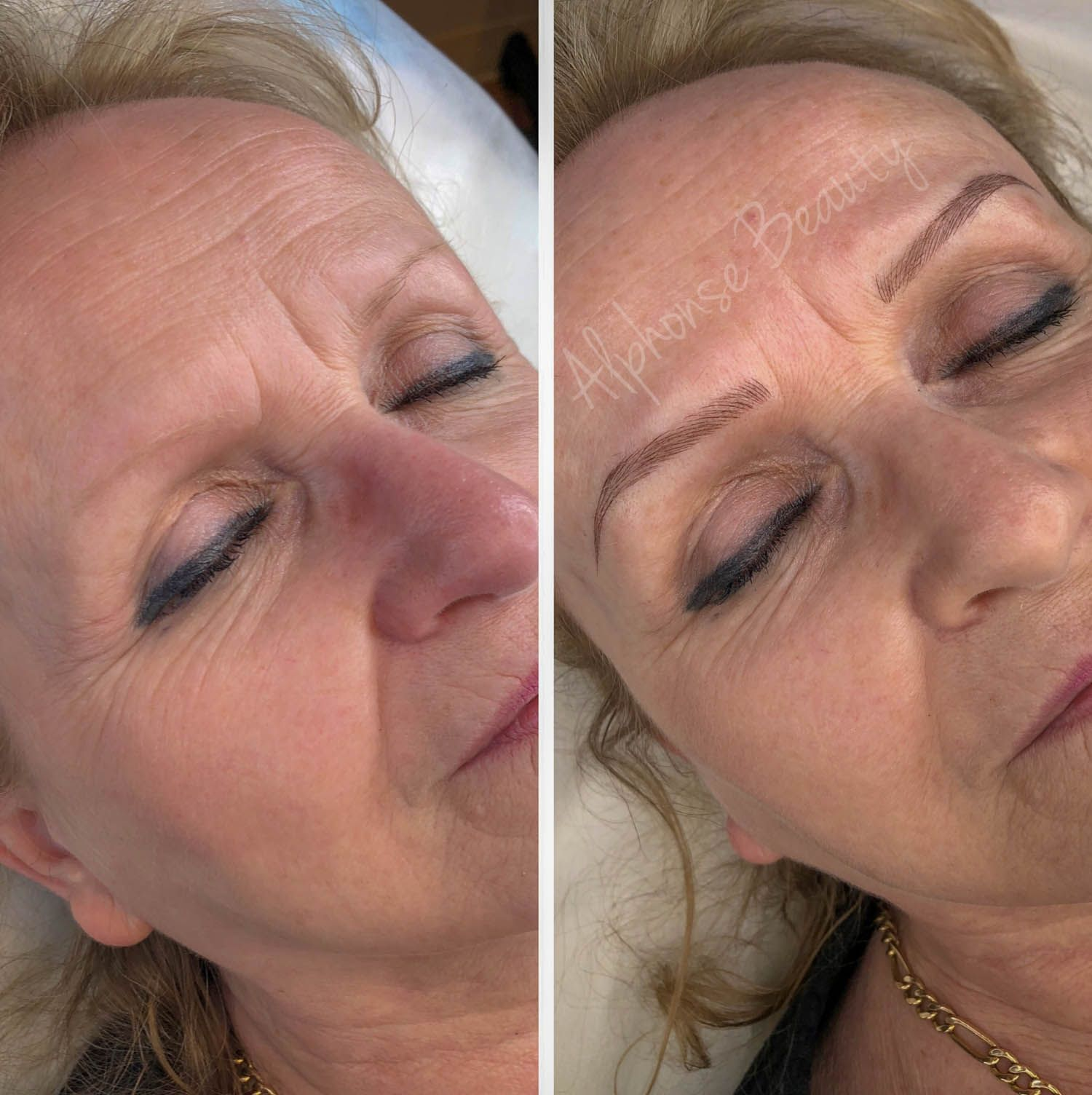 Eyebrow permanent makeup results