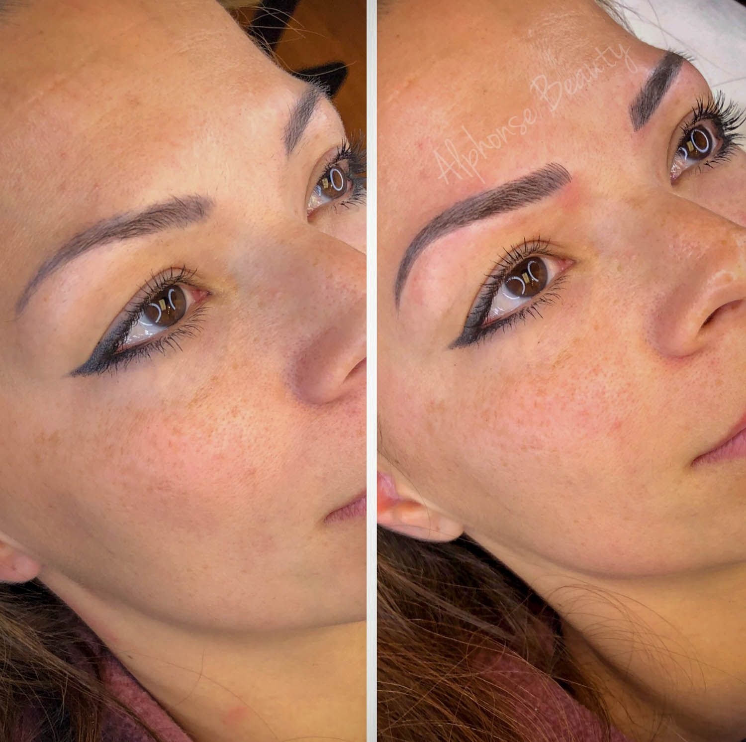 Eyebrow microblading new client touch up