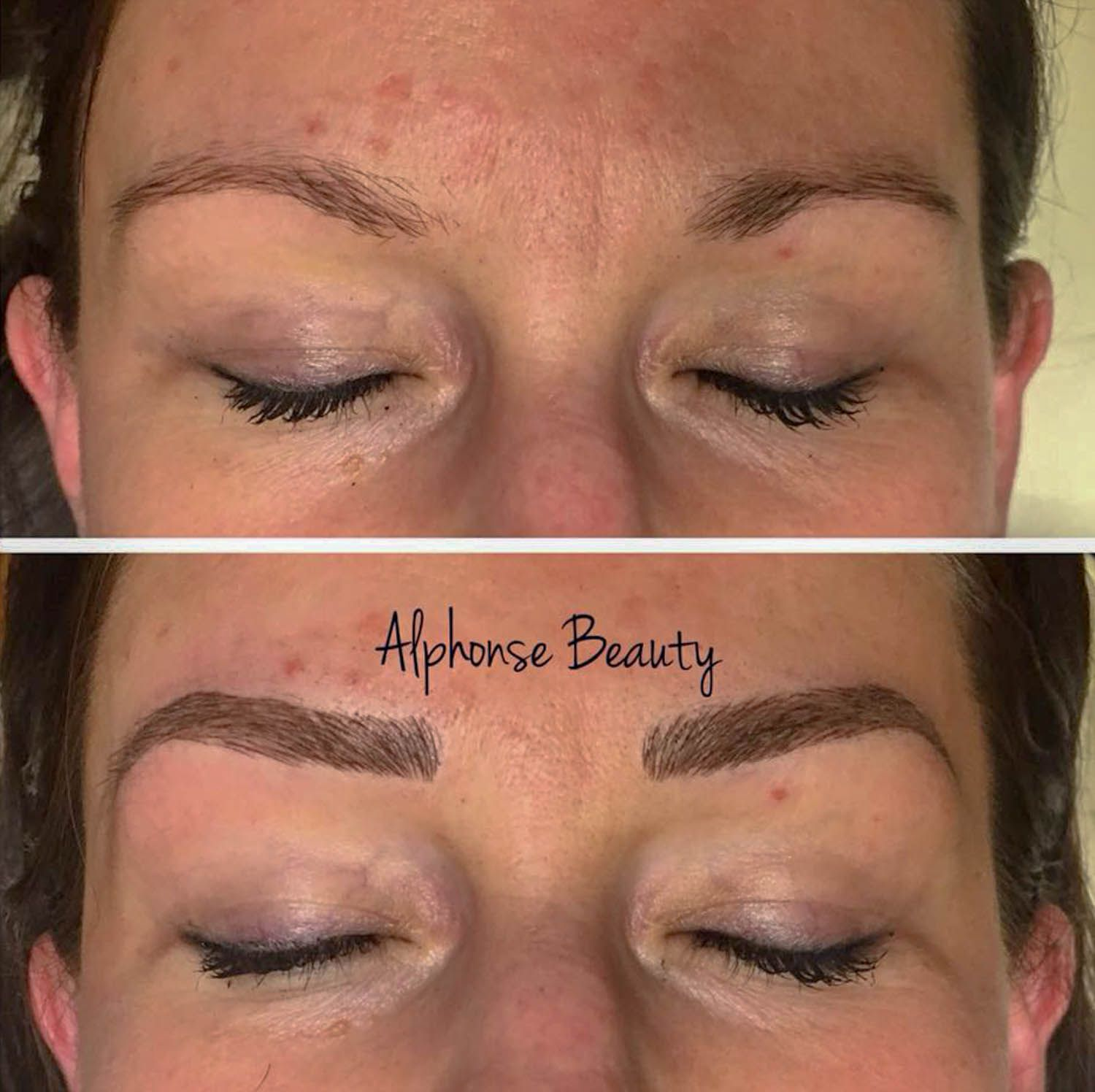 Results from Cosmetic Tattoo Microblading Procedure at Alphonse Beauty Microblading Studio