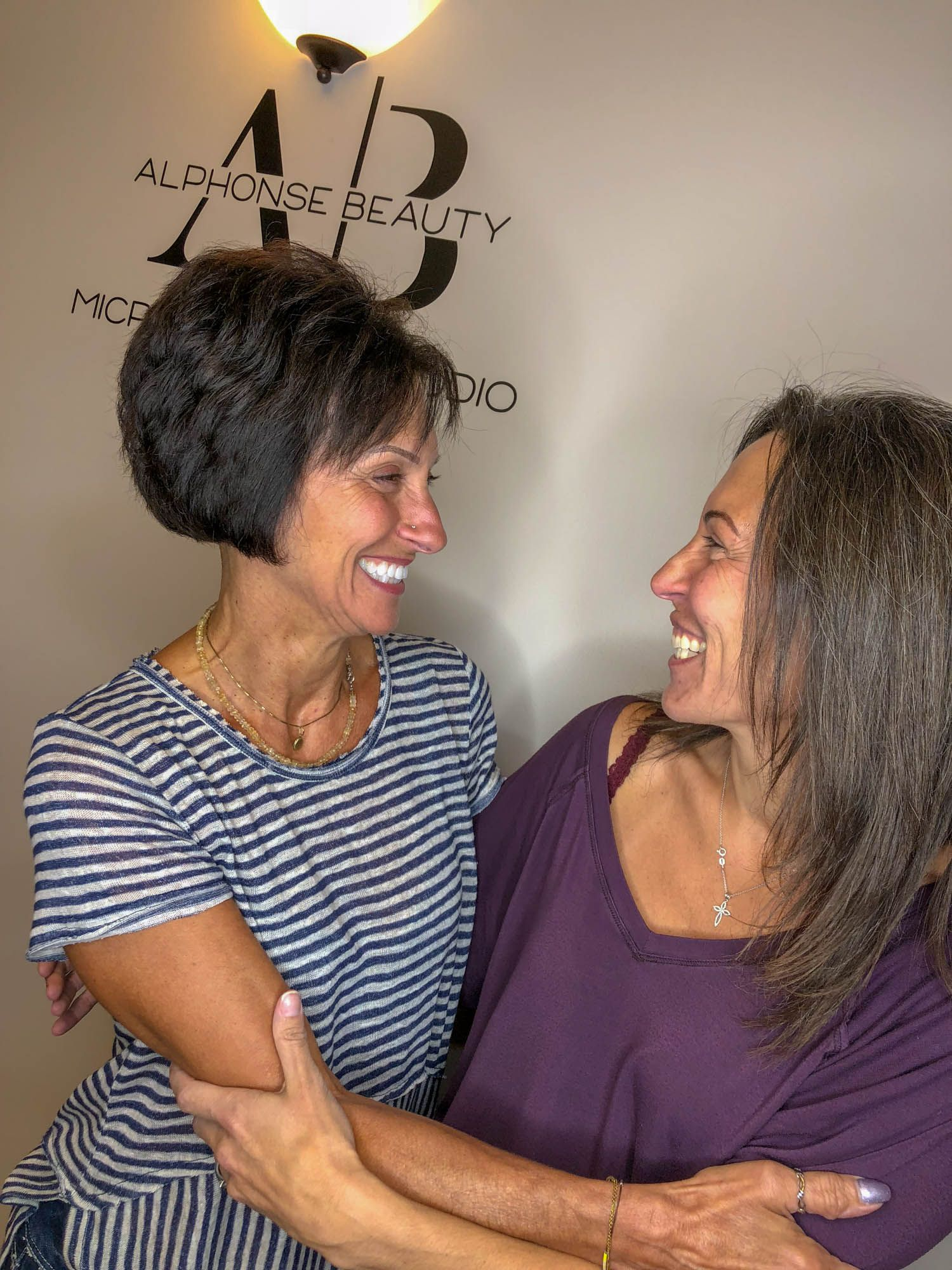 Sisters get microblading procedure done together at Alphonse Beauty