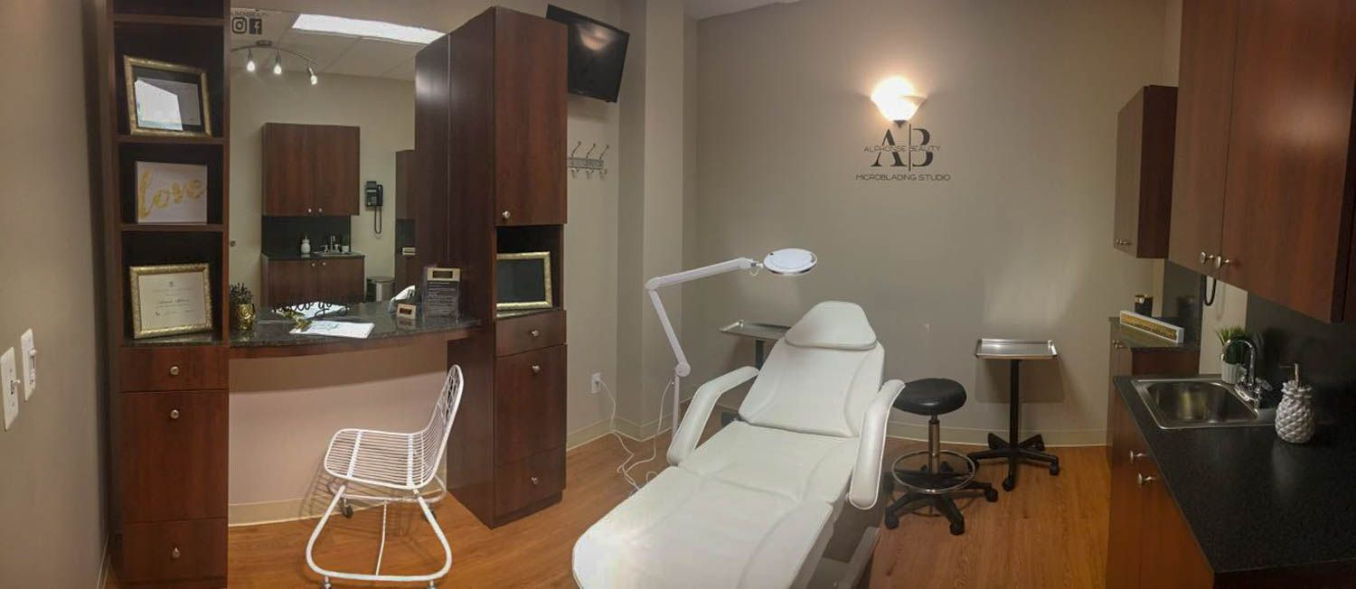 Interior view of Alphonse Beauty Microblading Studio in Shelby Charter Township, Michigan