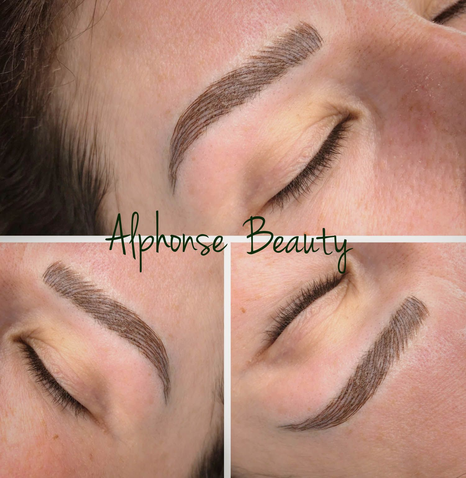 Microbladed eyebrows performed at Alphonse Beauty
