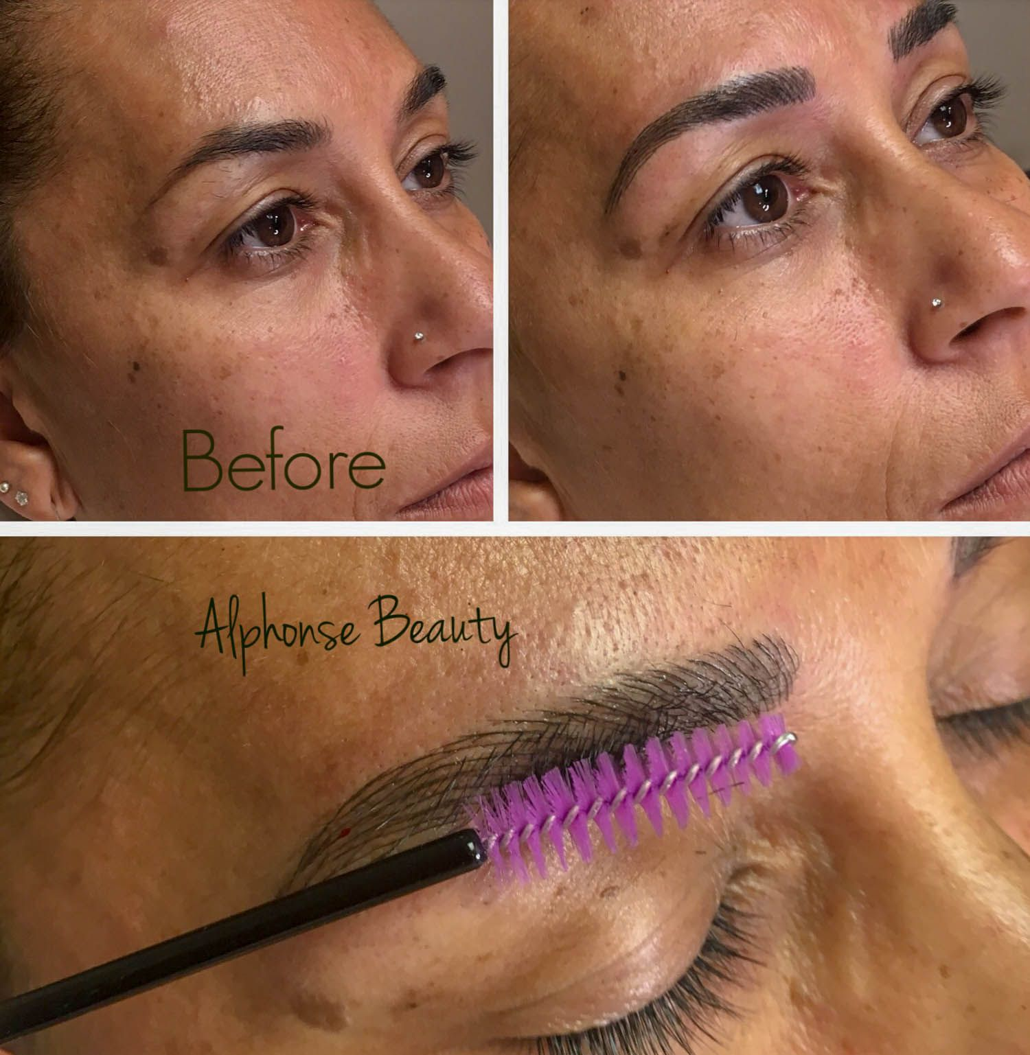 Eyebrow Microblading Strokes Healed Result