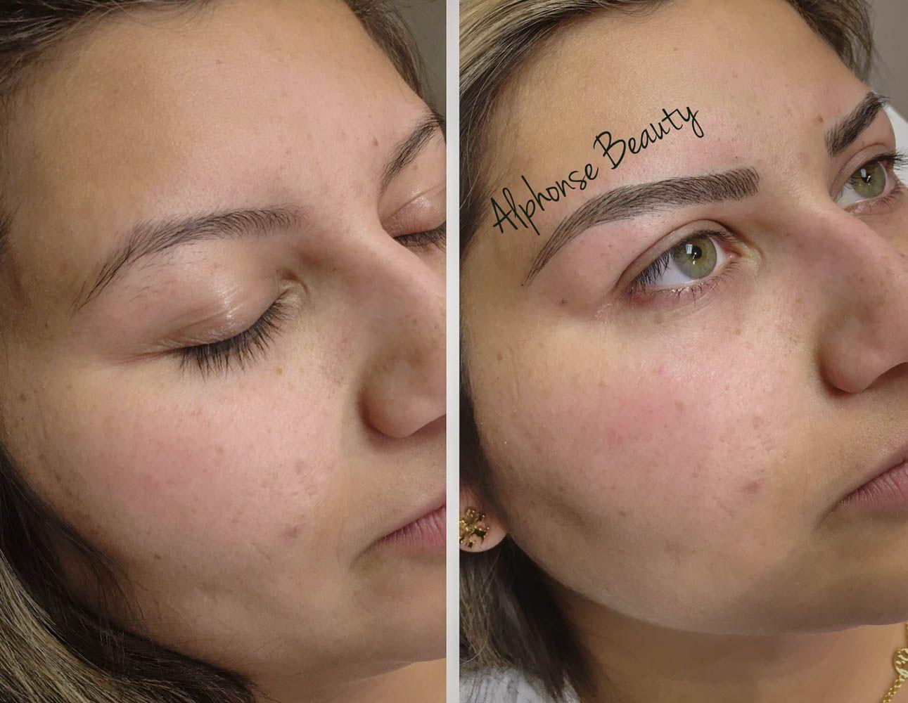 Permanent Makeup Eyebrow Microblading at Alphonse Beauty in Metro Detroit Michigan