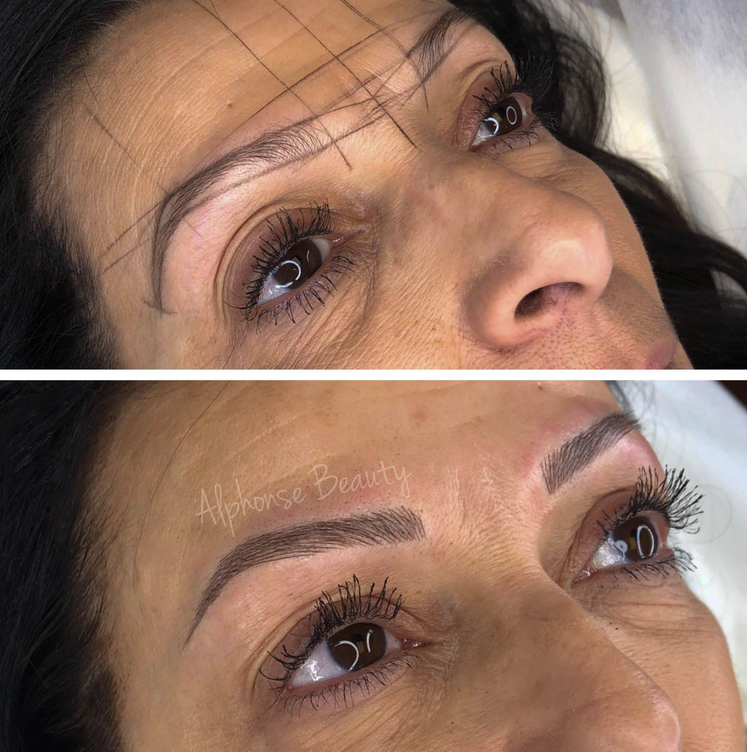Eyebrow mapping resulting in perfect eyebrows from Microblading