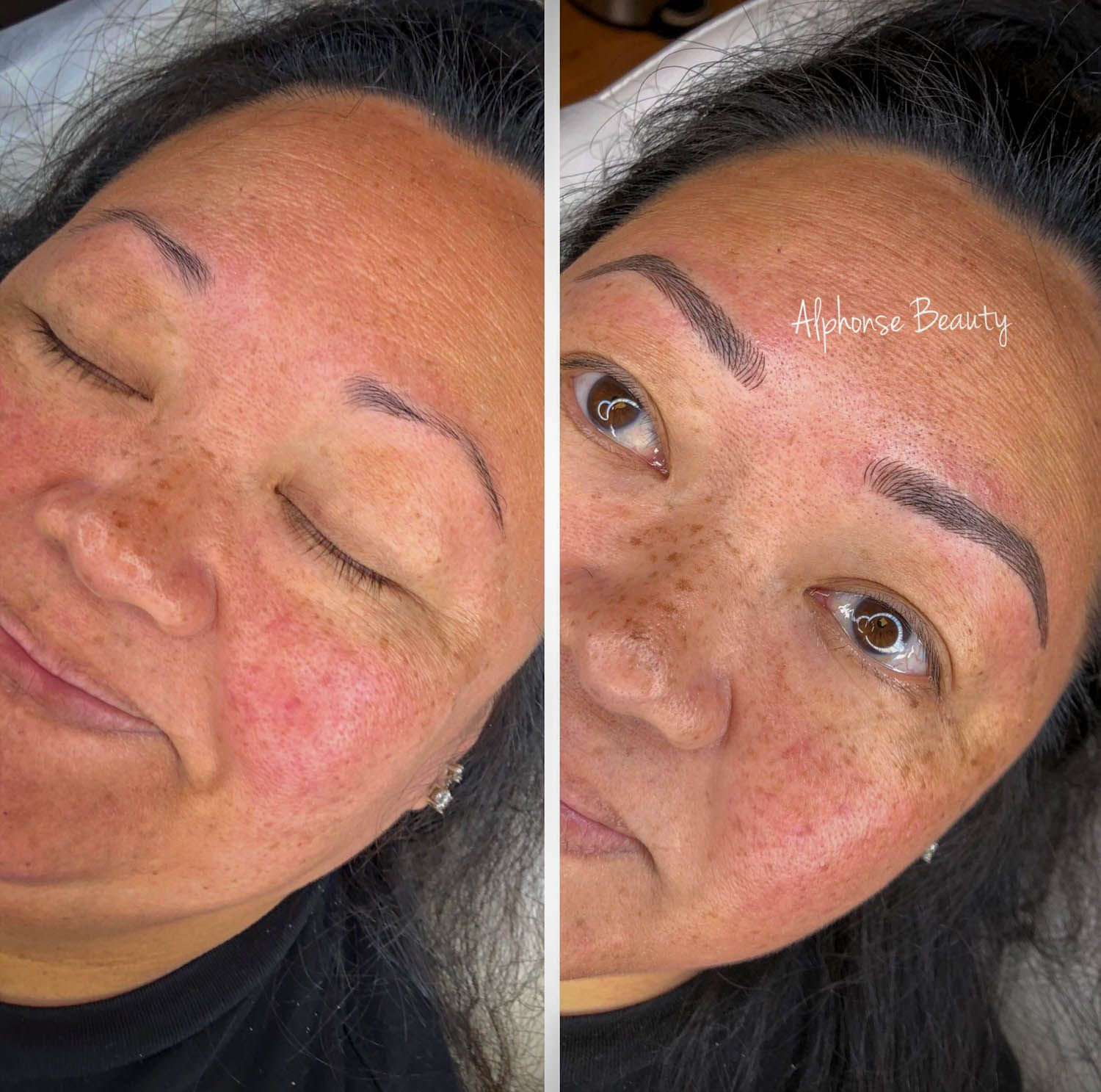 Cosmetic tattoo results at Alphonse Beauty Microblading Studio
