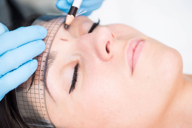 Eyebrow Microblading Mapping