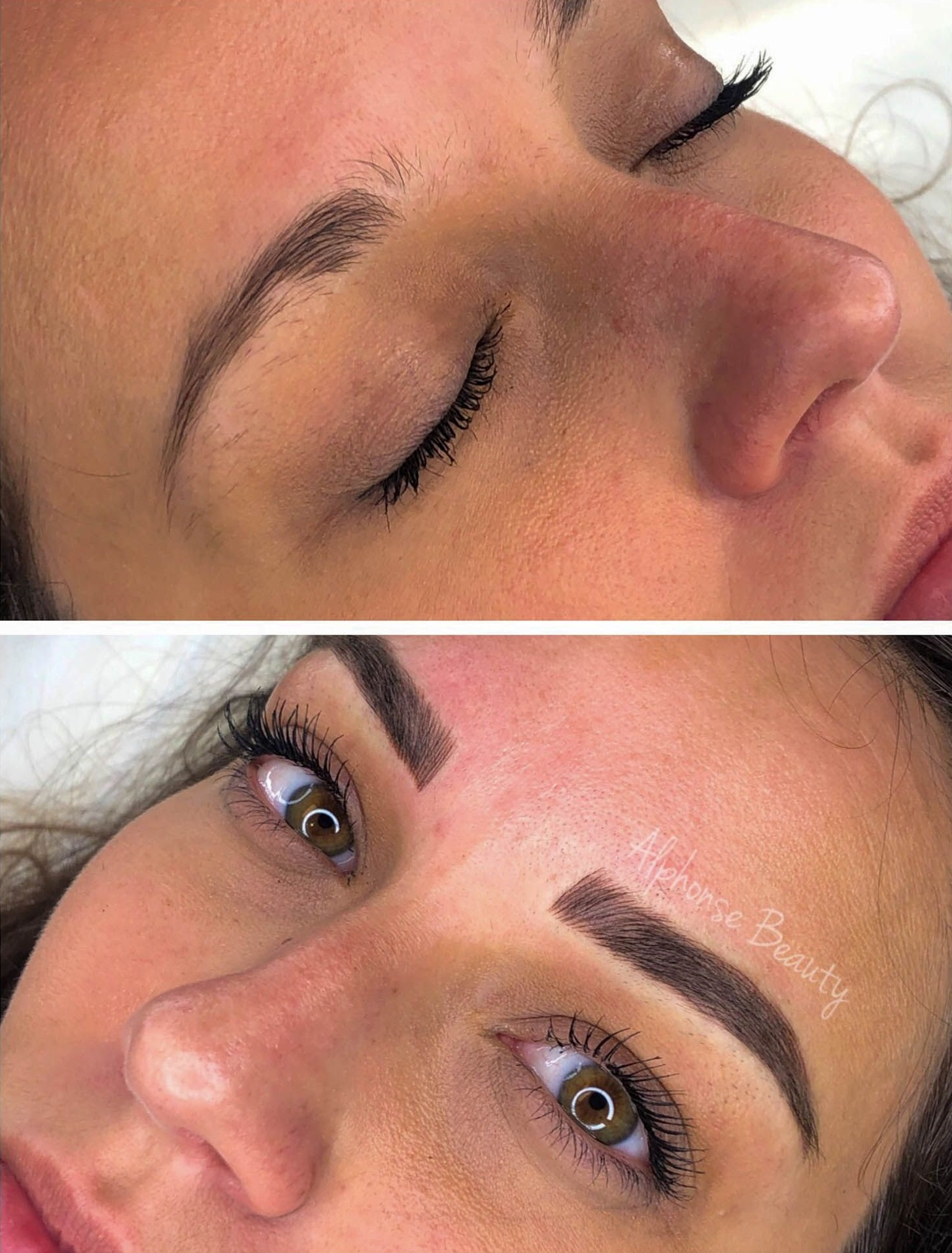 Eyebrow Microblading Before and After - Alphonse Beauty