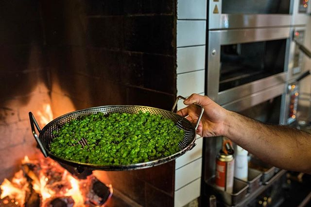 """pea skins dried over the fire like brassica chips - """"prassicas"""""""