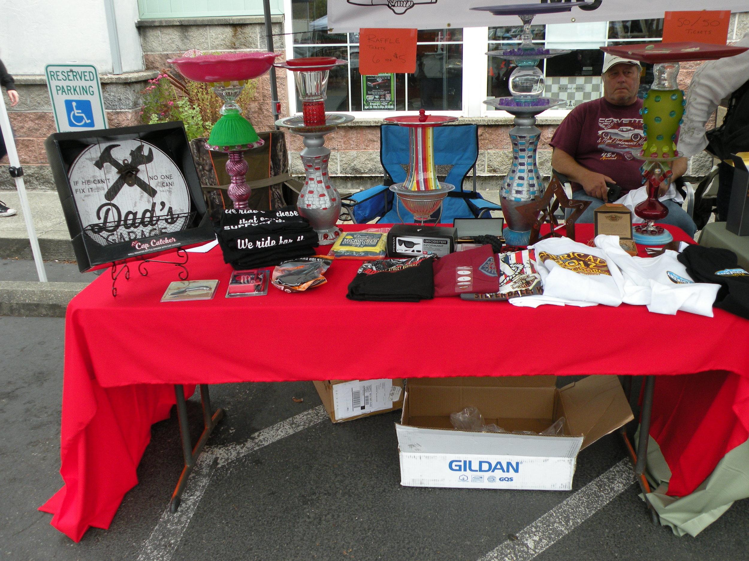 Veterans selling stuff