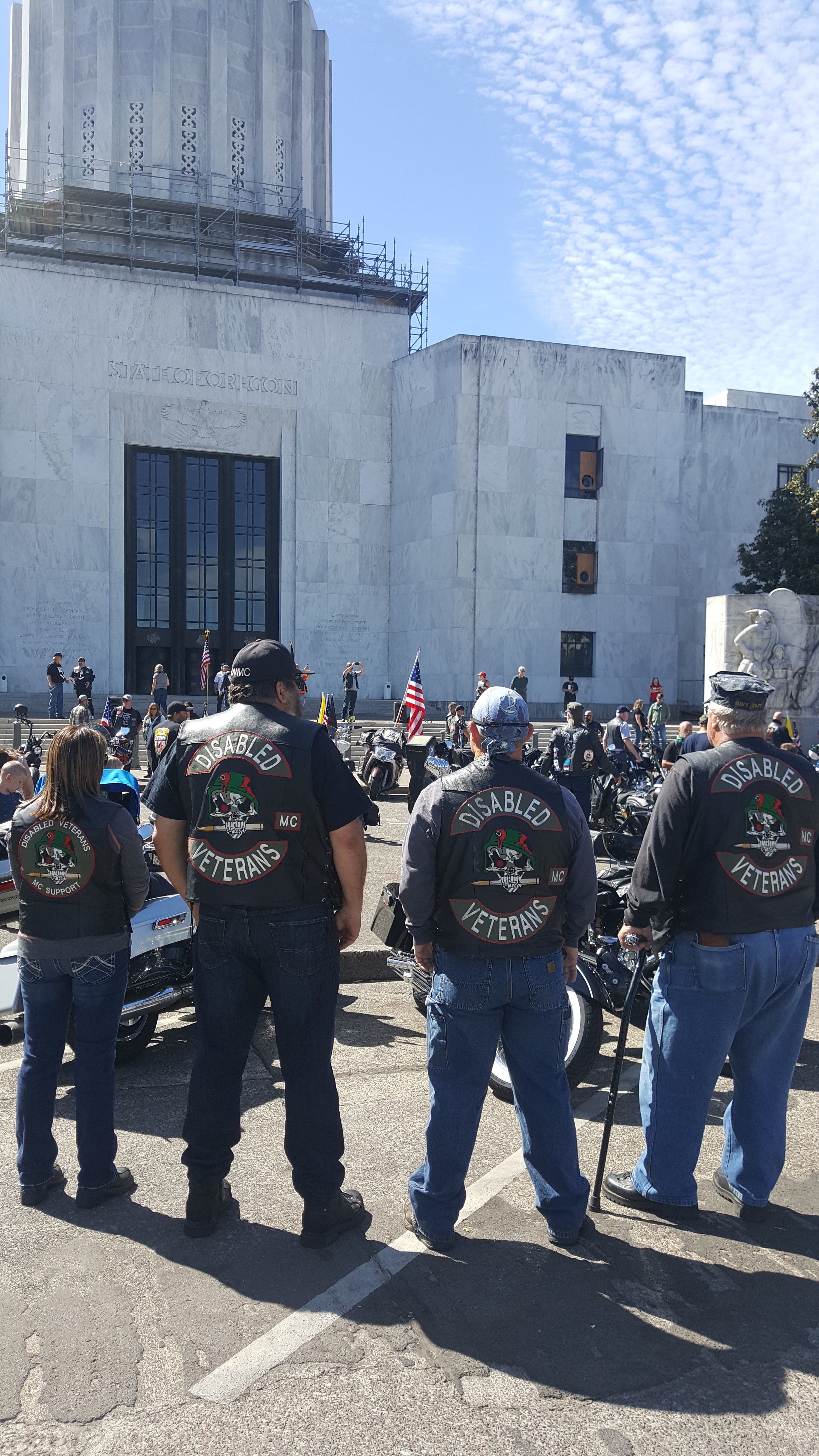 Disabled Veterans Motorcycle club ride