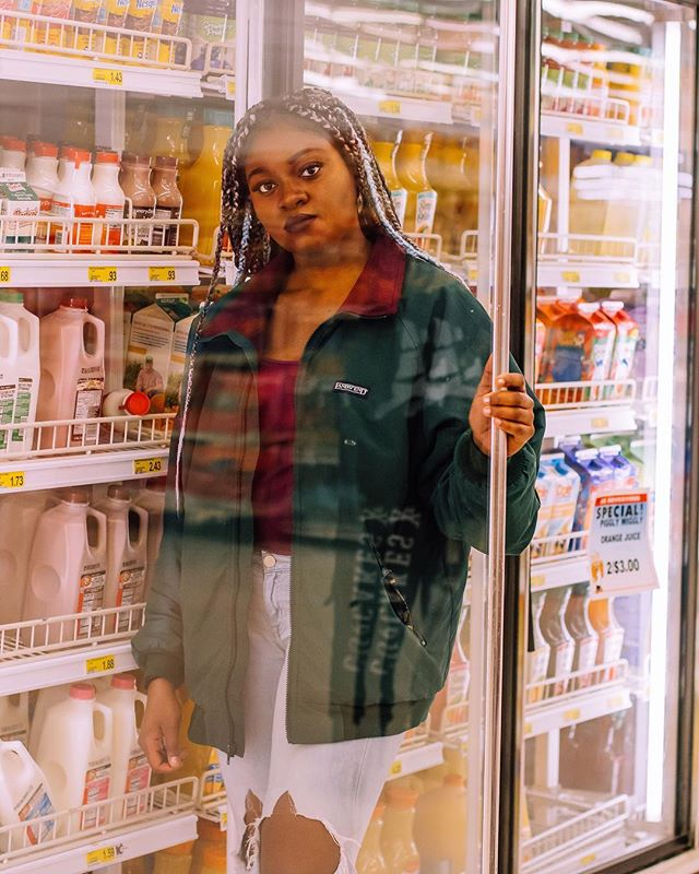 A lot of fun experimenting with shooting through glass at the grocery store!
