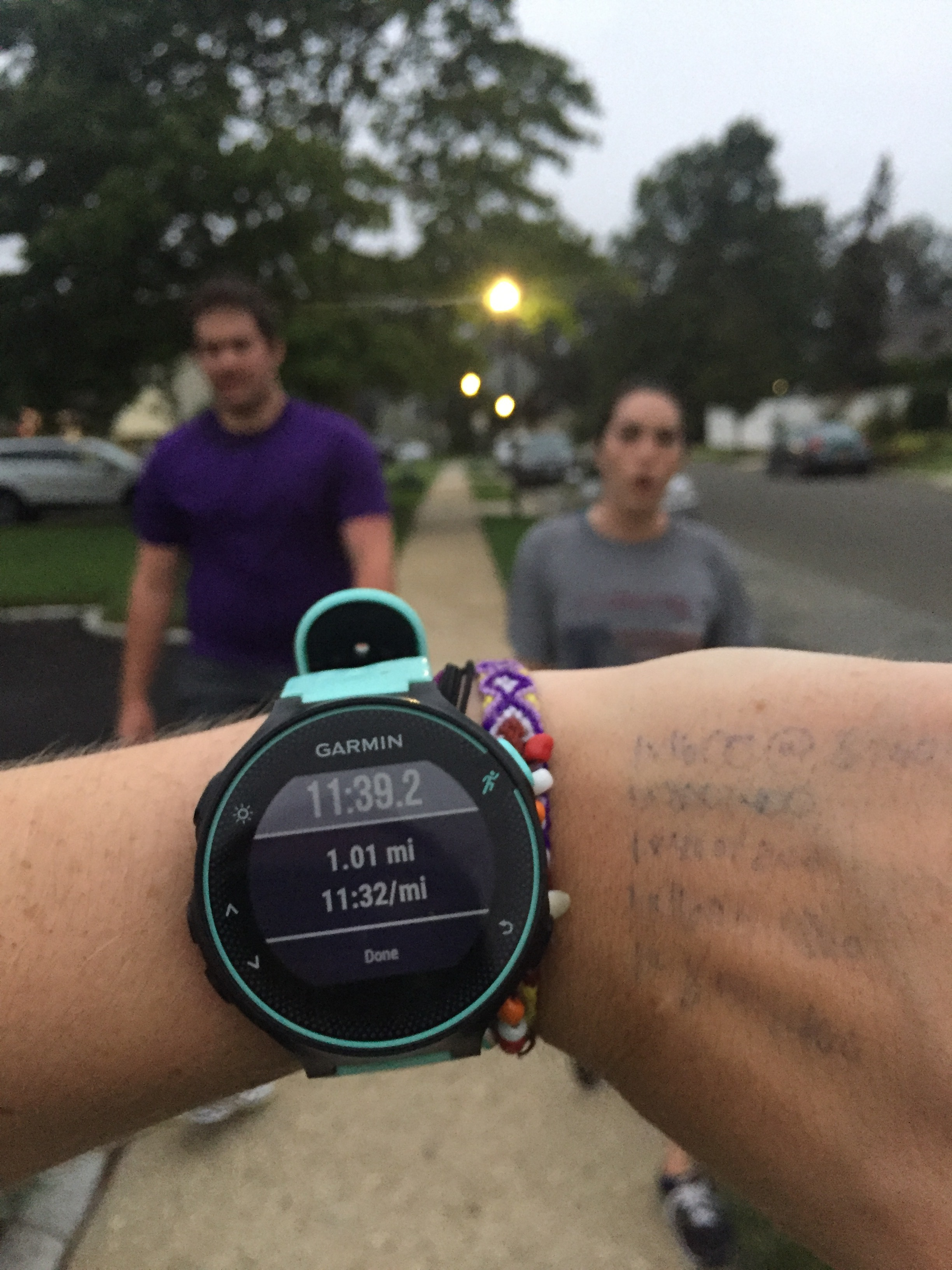 Jen's first continous mile, ever!