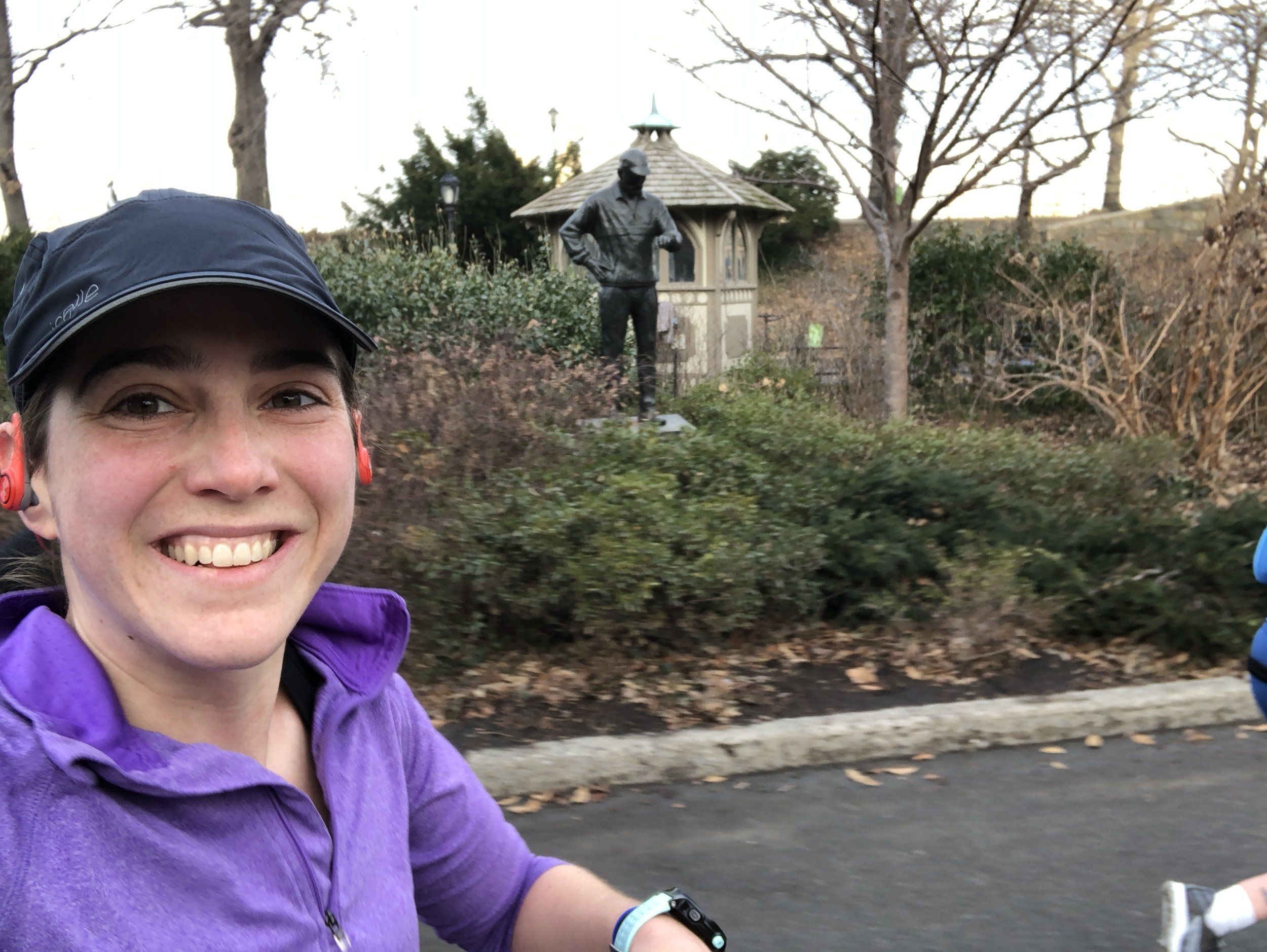 Had to get a selfie with the Fred Lebow statue as I ran by!